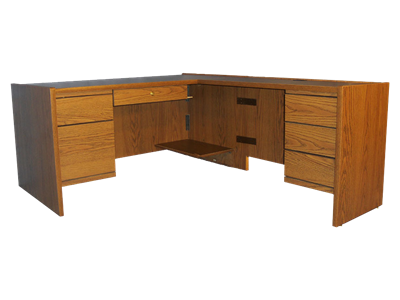 Picture of Statesman Executive L Shaped Desk