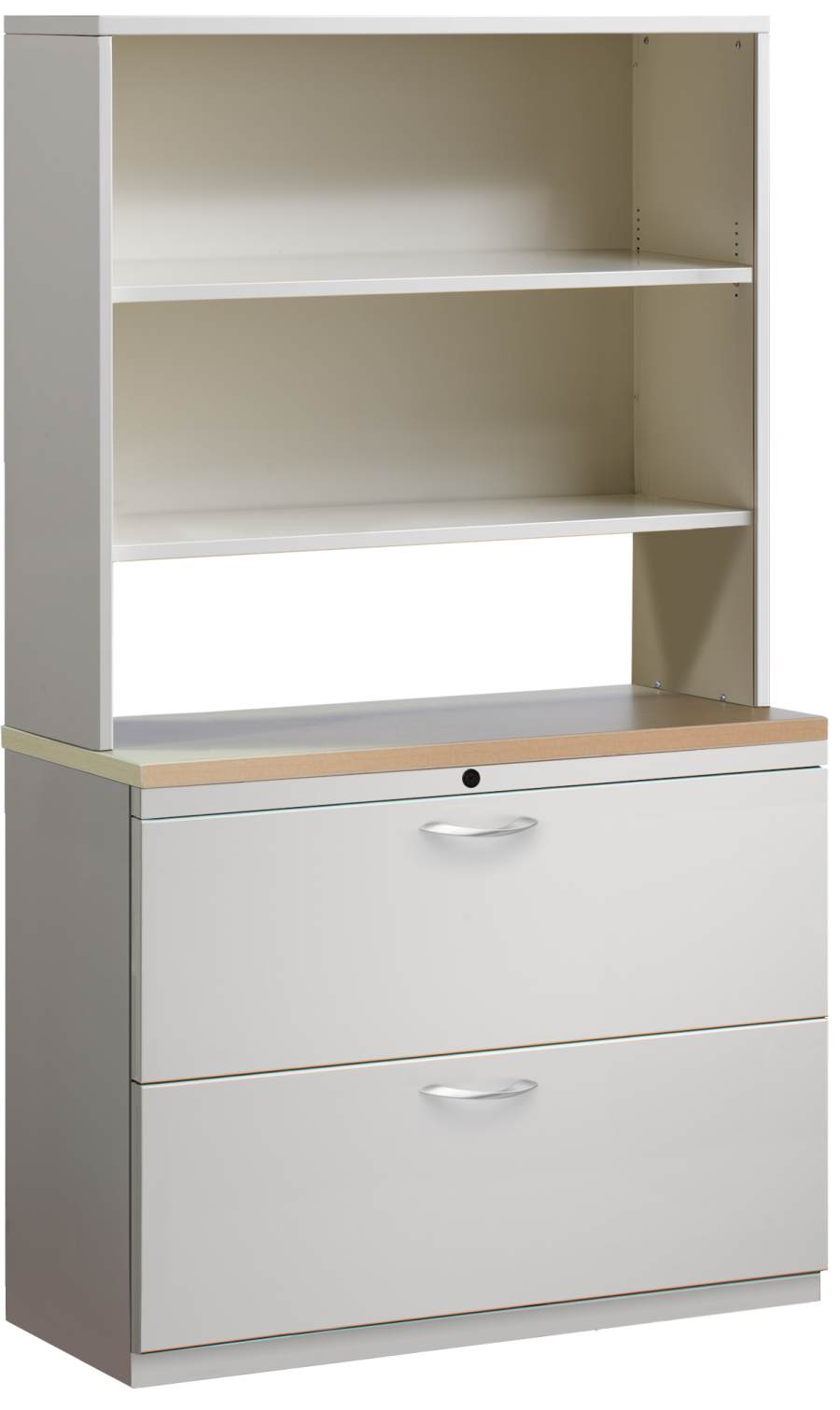 Modular File Cabinets Trace Lateral File Cabinet With Hutch ...