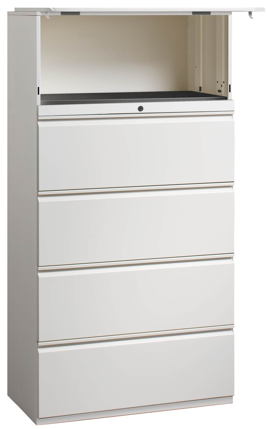 Charmant Trace Lateral File Cabinet With Hutch Modular File Cabinets