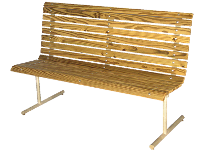 Picture of Wood Slat Contour Bench