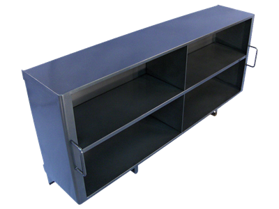 Picture of Four Compartment Metal Shelf