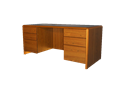 Picture of Eclipse Double Pedestal Desk