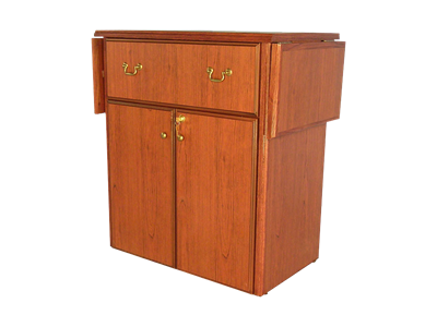 Picture of CLEARANCE: Heritage Hospitality Cart Drop Leaf, Walnut