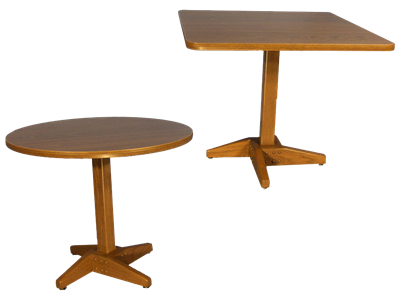 Picture of Single Pedestal Wood Base Table