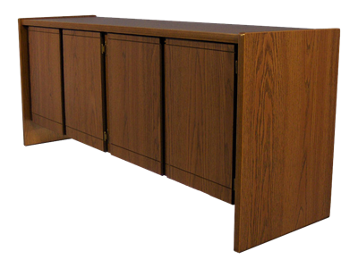 "Picture of CLEARANCE: STM Double Door Credenza (4 - Doors) 72"" Long - Walnut"