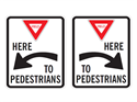 Picture of Yield Here To Pedestrians w/Arrow