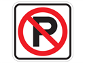 "Picture of Cross Out ""P"" Parking"