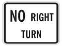 Picture of No Right Turn