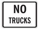 Picture of No Trucks-Text