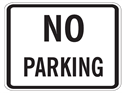 Picture of No Parking-Text