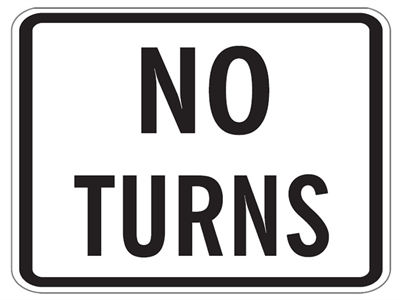 Picture of No Turns-Text