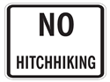 Picture of No Hitchhiking