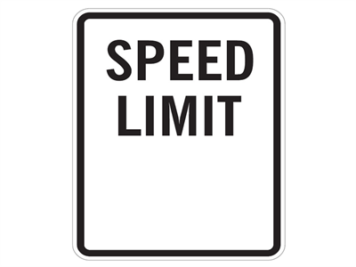 Picture of Speed Limit-Blank