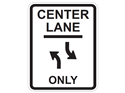 Picture of Center Lane Only w/Opposite Curved Arrows