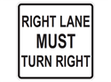 Picture of Right Lane Must Turn Right