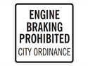Picture of Engine Braking Prohibited-City Ordinance