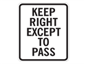 Picture of Keep Right Except To Pass
