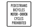 Picture of Pedestrian Bicycles Motor-Driven Cycles Prohibited