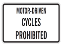 Picture of Motor-Driven Cycles Prohibited