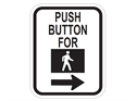 Picture of Push Button For Walk w/Right Arrow