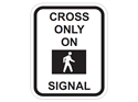 Picture of Cross On Walk Signal Only w/Picture
