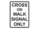 Picture of Cross On Walk Signal Only