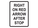 Picture of Right On Red Arrow After Stop