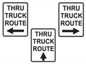 Picture of Thru Truck Route w/Arrow