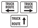Picture of Truck Route w/Arrow