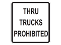 Picture of Thru Trucks Prohibited
