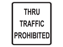Picture of Thru Traffic Prohibited