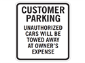 Picture of Customer Parking Unauthorized Cars Will Be Towed