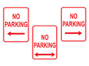 Picture of No Parking w/Arrows