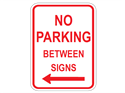 Picture of No Parking Between Signs Left Arrow