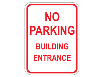 Picture of No Parking Building Entrance