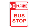 Picture of No Parking Bus Stop (Highlighted NO)