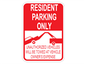 Picture of Resident Parking Only Unauthorized Vehicles Will Be Towed