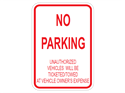 Picture of No Parking Unauthorized Vehicles Will Be Ticketed/Towed