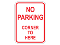 Picture of No Parking Corner To Here