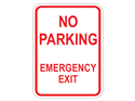Picture of No Parking Emergency Exit