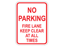 Picture of No Parking Fire Lane Keep Clear At All Times