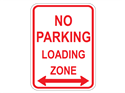 Picture of No Parking Loading Zone w/Arrows