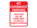 Picture of No Overnight Parking Violators Will Be Towed Away