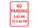 Picture of No Parking 8:00 AM to 8:00 PM