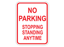Picture of No Parking Stopping Standing Anytime
