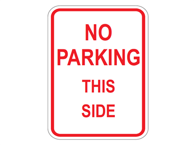 Picture of No Parking This Side