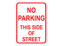Picture of No Parking This Side Of Street