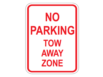 Picture of No Parking Tow-Away Zone