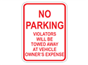 Picture of No Parking Violators Will Be Towed At