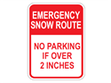 Picture of Emergency Snow Route No Parking If Over 2 Inches
